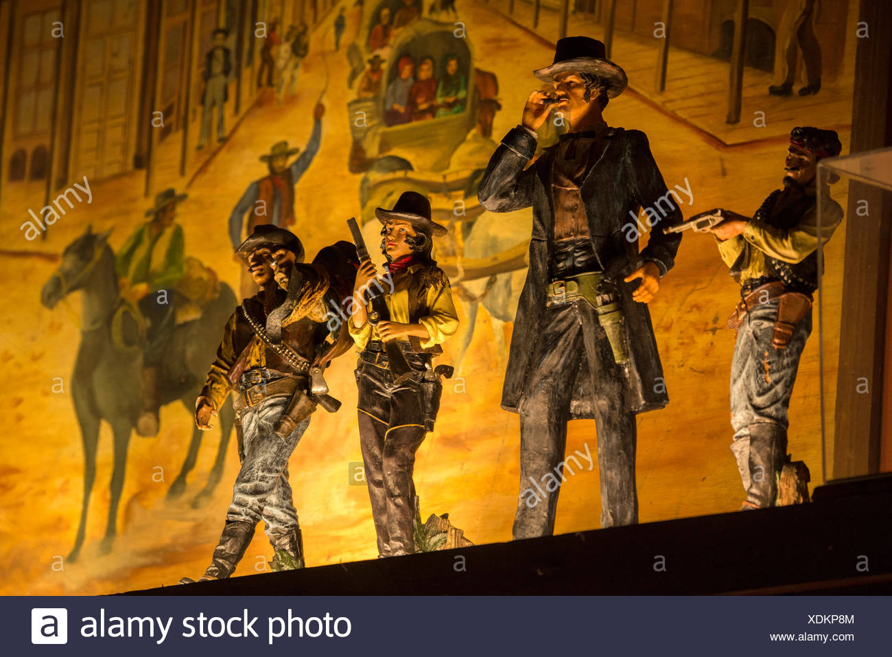 Arizona, Tombstone, figures in saloon - Stock Image