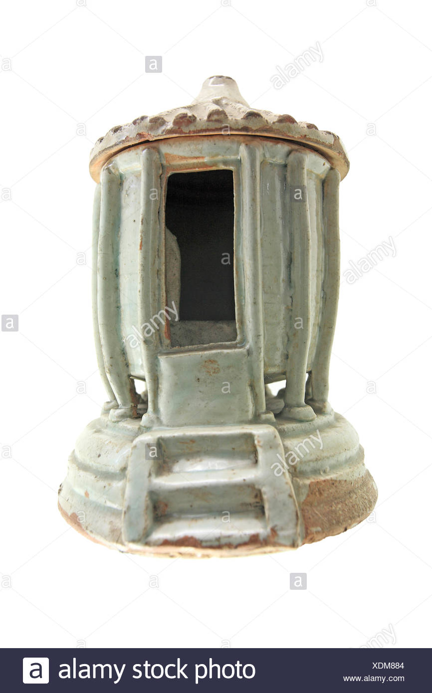 Antique iron stove - Stock Image