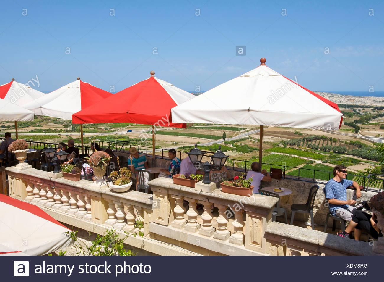 Restaurant in Mdina, Malta, Europe Stock Photo