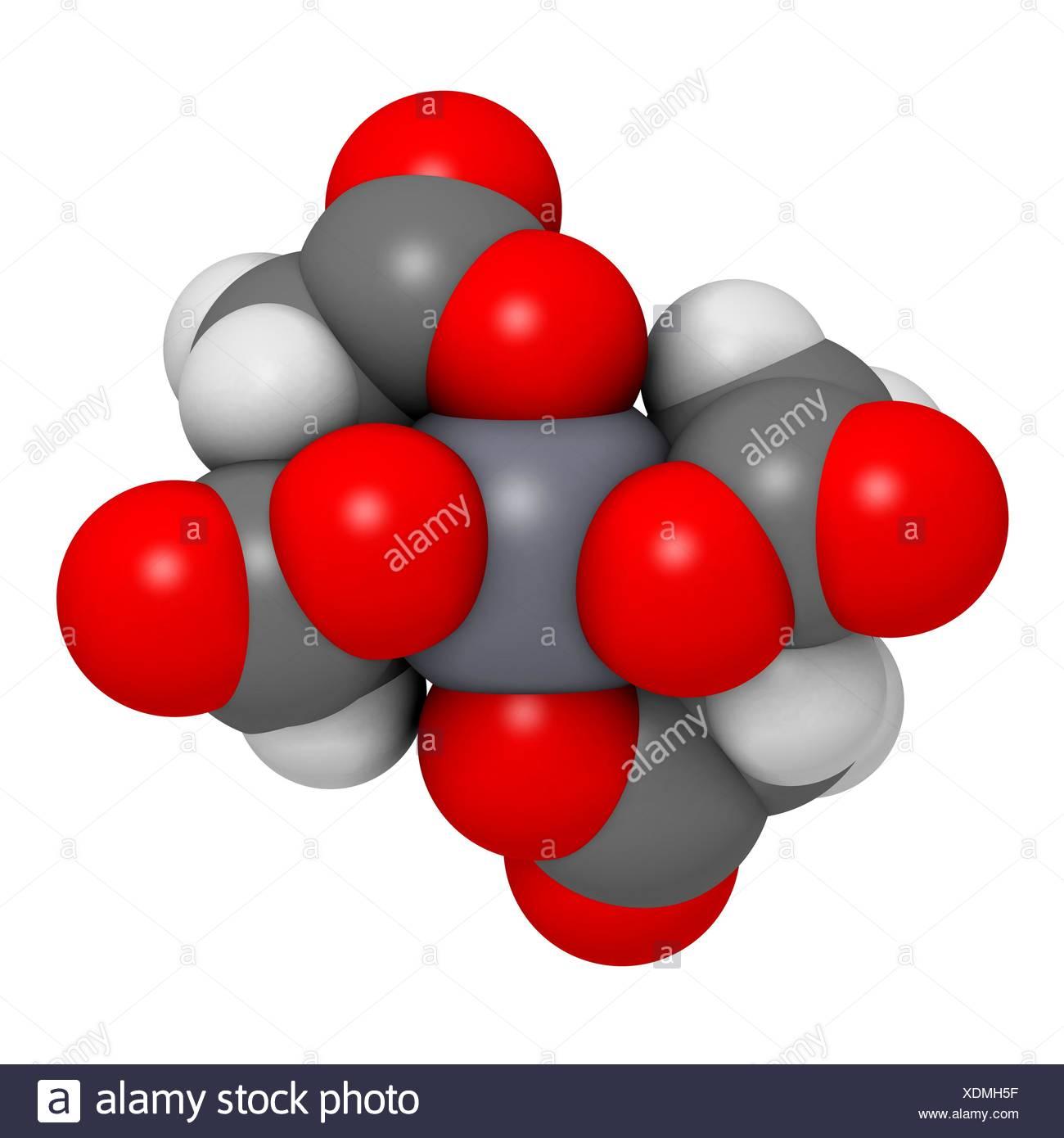 Calcium edetate (calcium EDTA) drug molecule Medically used