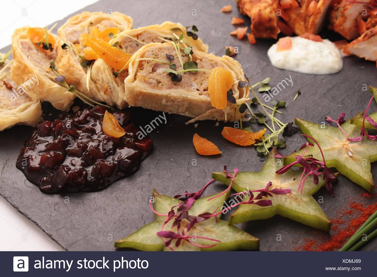 mixed canapes Stock Photo