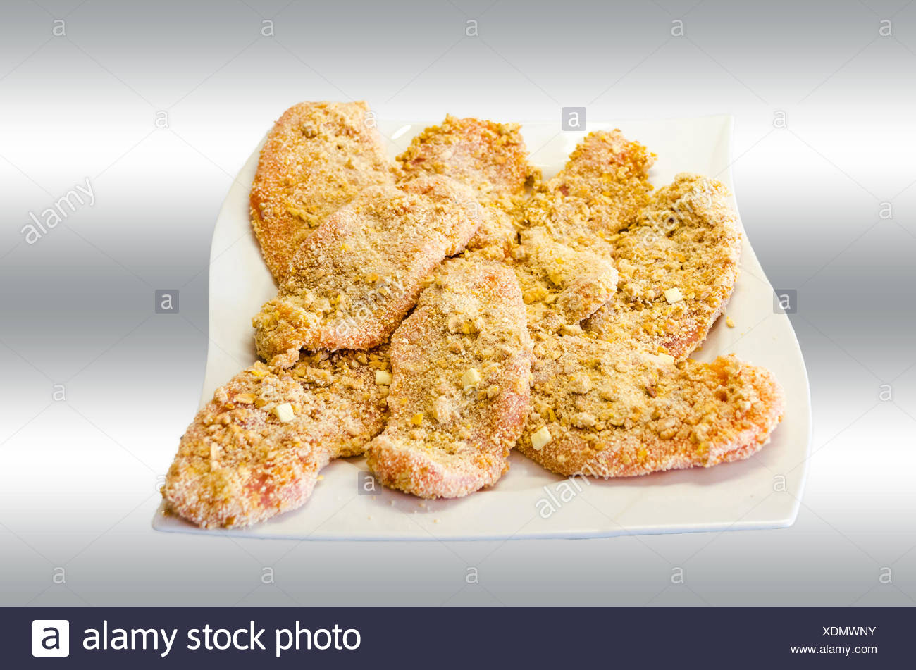 Breaded Cutlet - Stock Image
