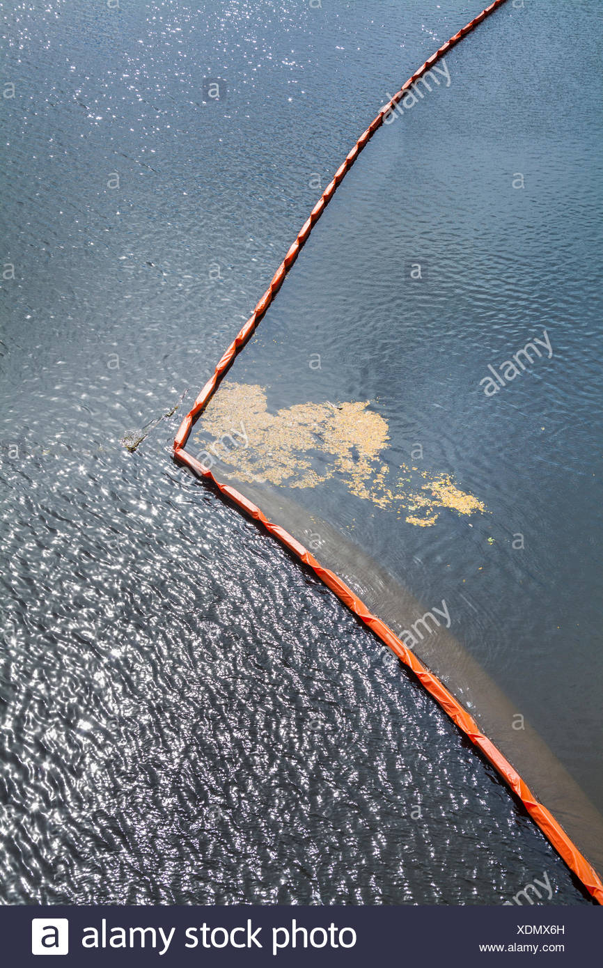 Divider in a body of water. - Stock Image