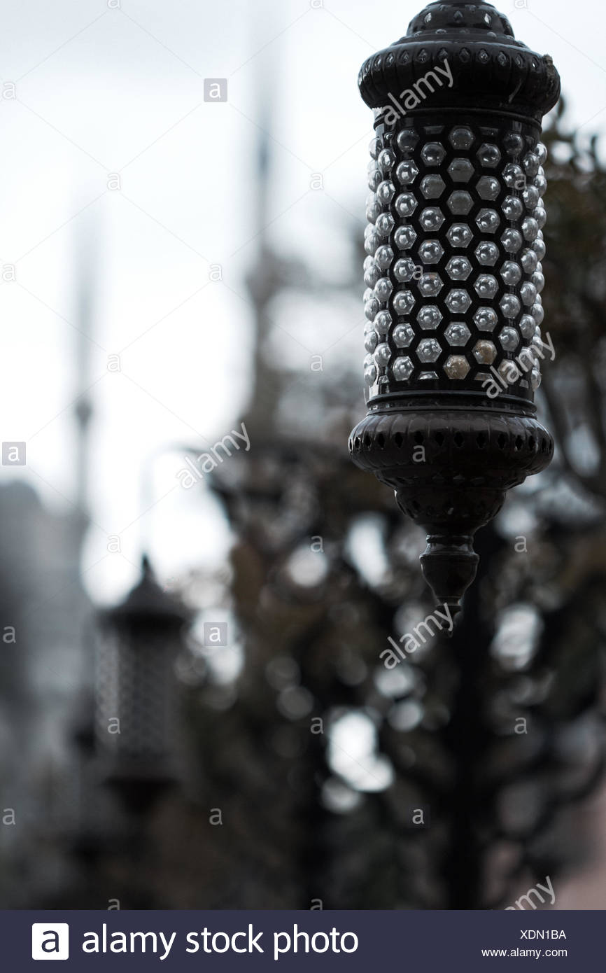 Close-Up Of Pole Against Blurred Background - Stock Image