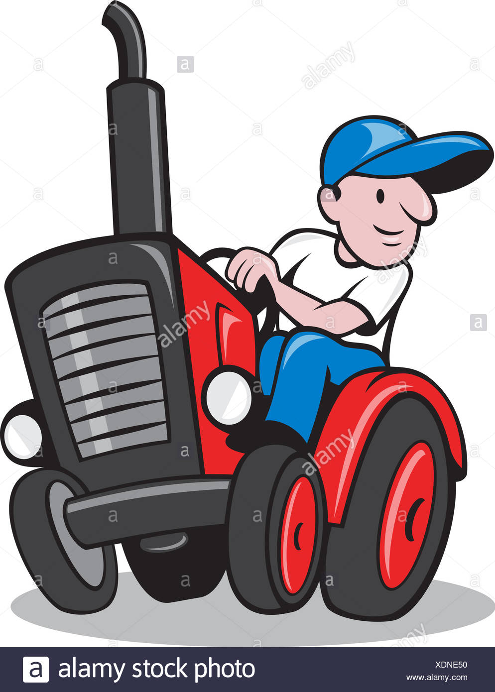 Cartoon Farmer Tractor Stock Photos Cartoon Farmer Tractor Stock