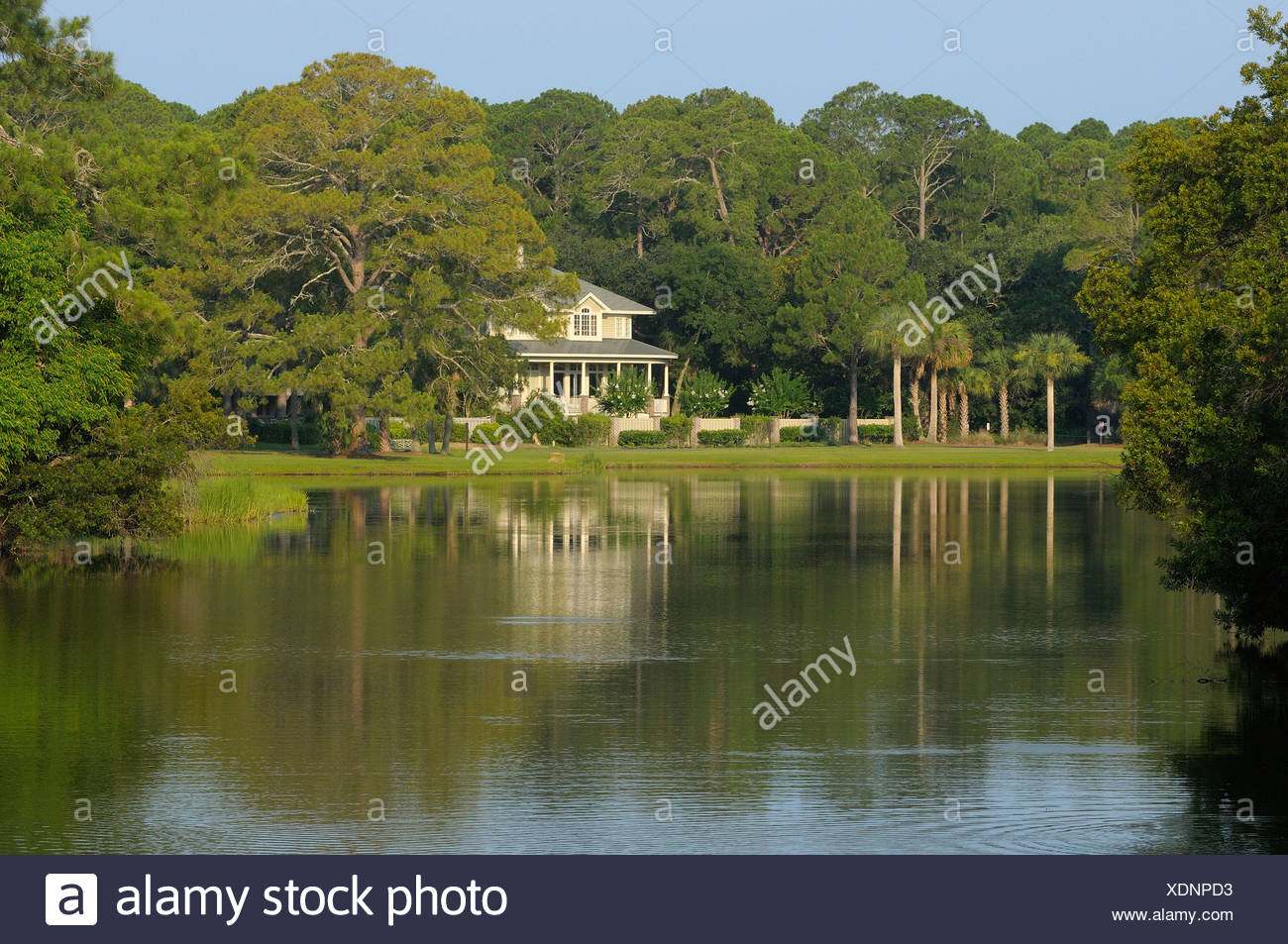 House, Sea Pines Plantation, Hilton Head Island, South Carolina, USA, United States, America, - Stock Image