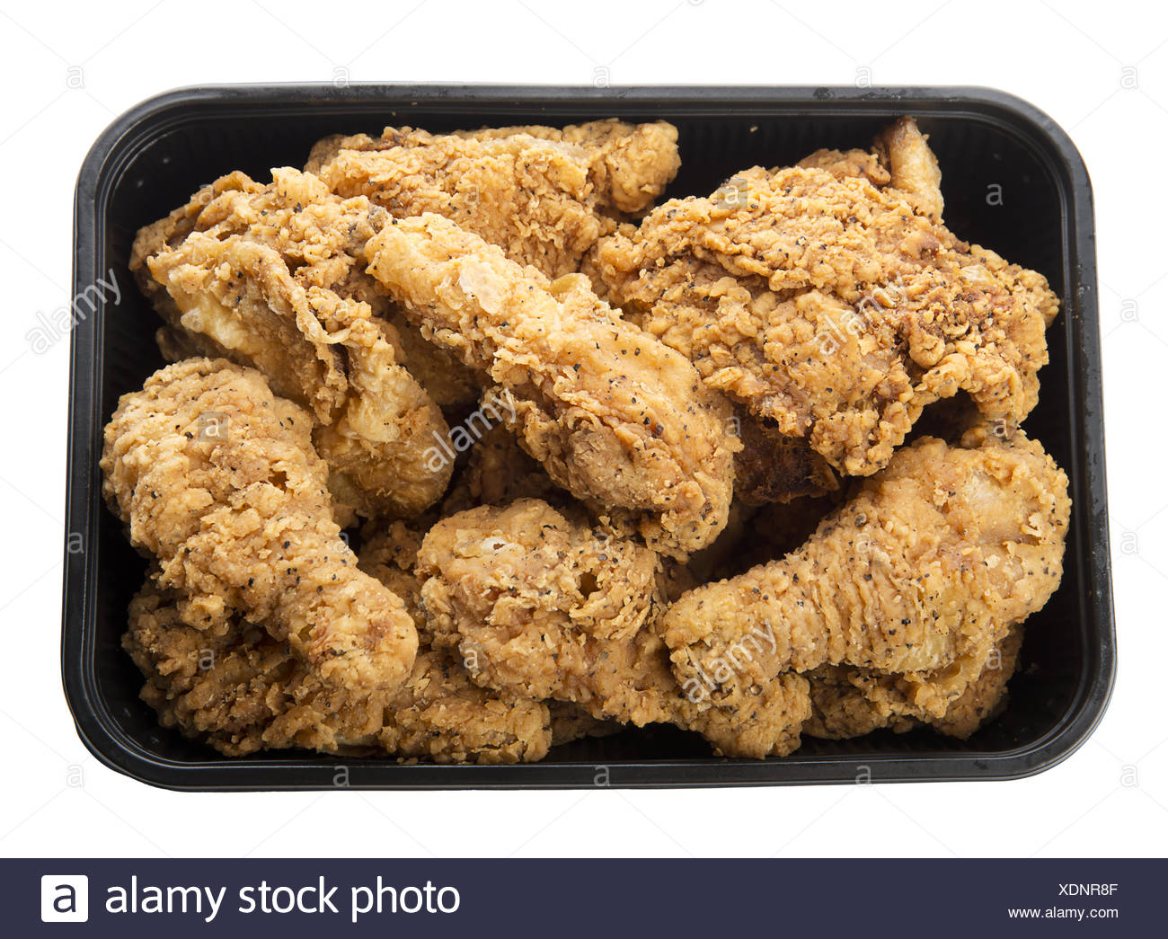 fried chicken in container - Stock Image
