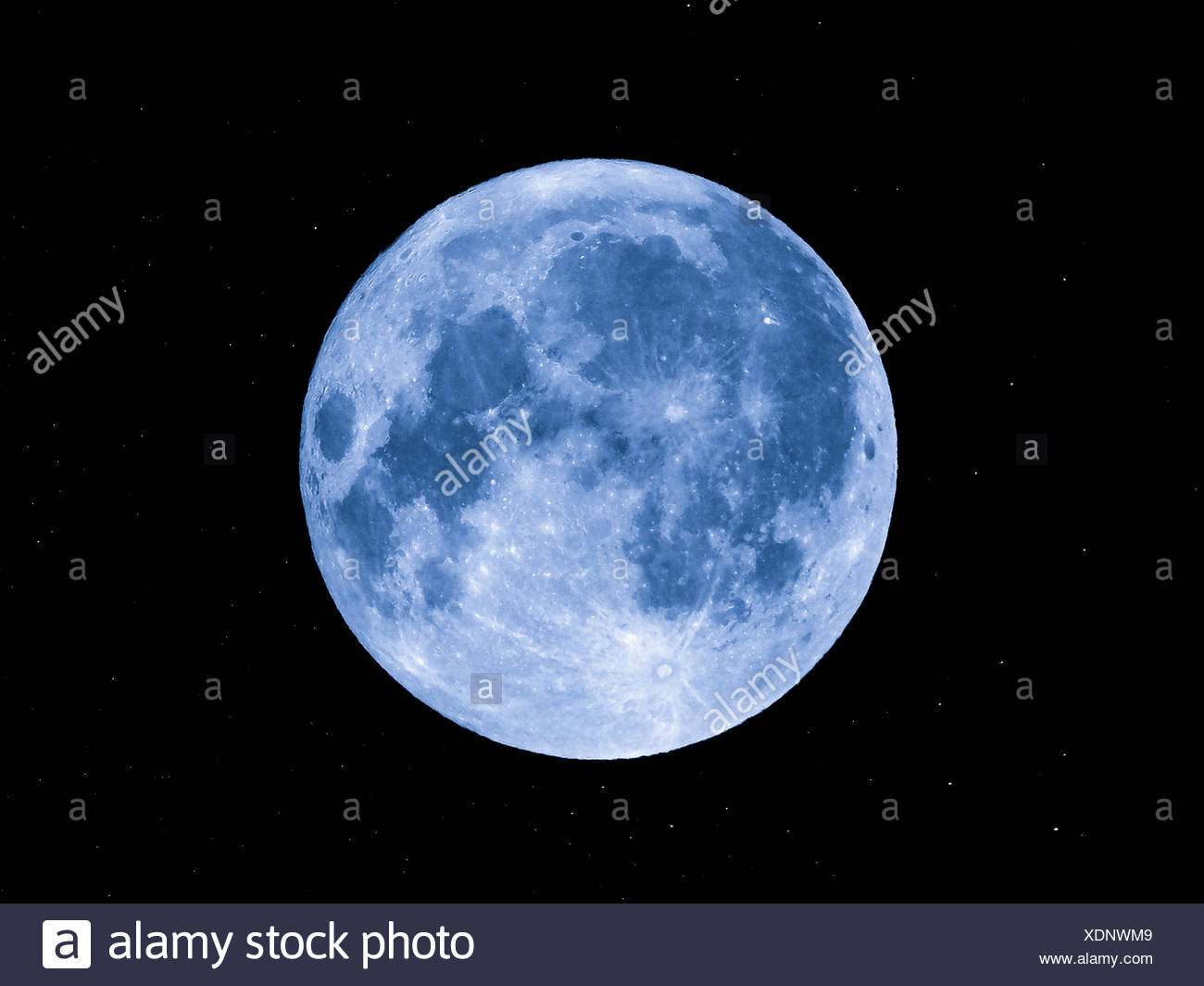 Moon and stars - Stock Image