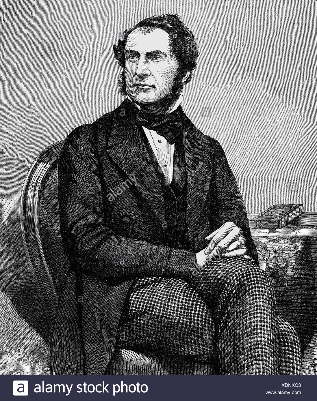 Gladstone, William Eward, 29.12.1809 - 19.5.1898, British politician (Lib.), Chancellor of the Exchequer 18.6.1859 - , Additional-Rights-Clearances-NA - Stock Image