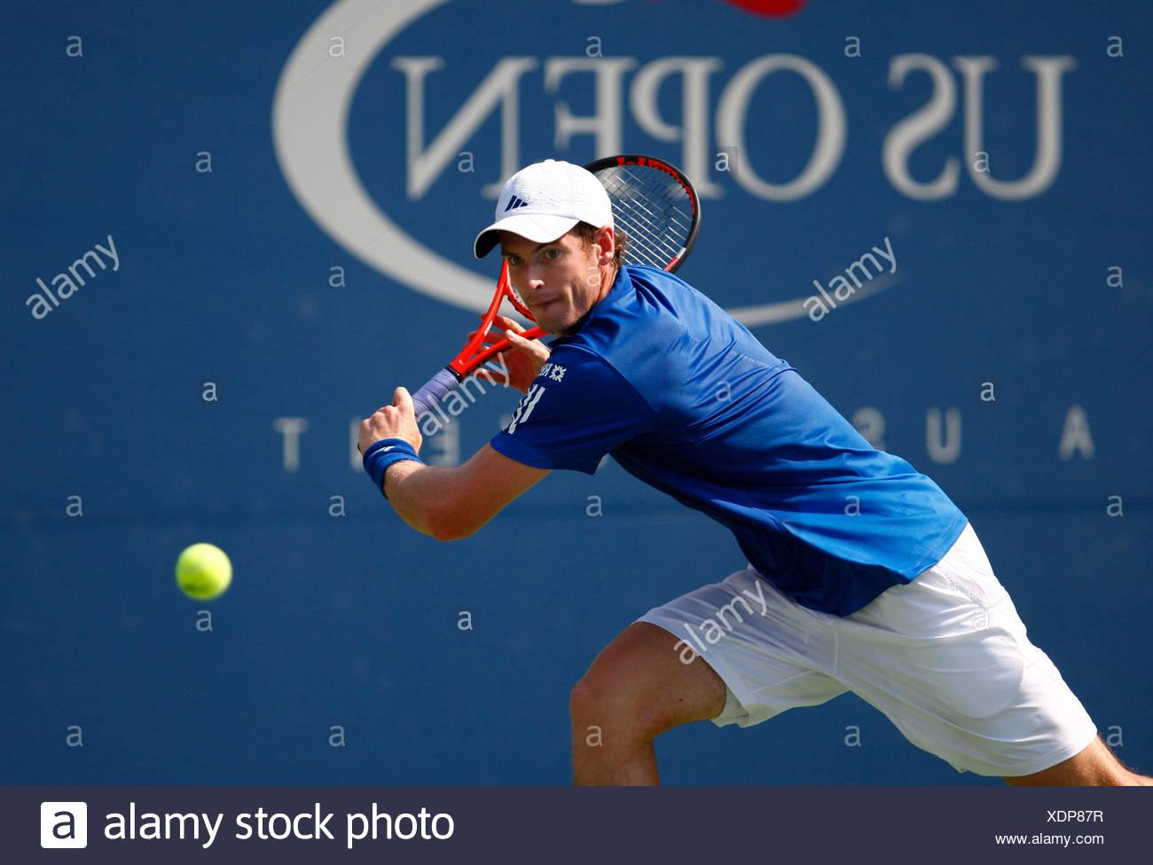 Andy Murray, British tennis player, US Open 2010, ITF Grand Slam Tennis Tournament, USTA Billie Jean King National Tennis Center - Stock Image