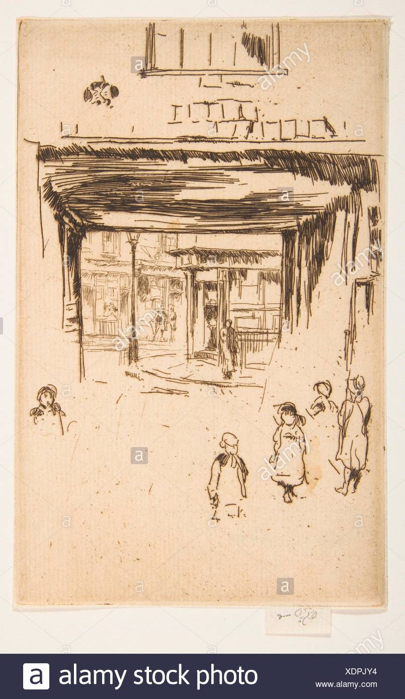 Drury Lane. Series/Portfolio: Second Venice Set (A Set of Twenty-Six Etchings by James A. McN. Whistler, 1886); Artist: James McNeill Whistler - Stock Image