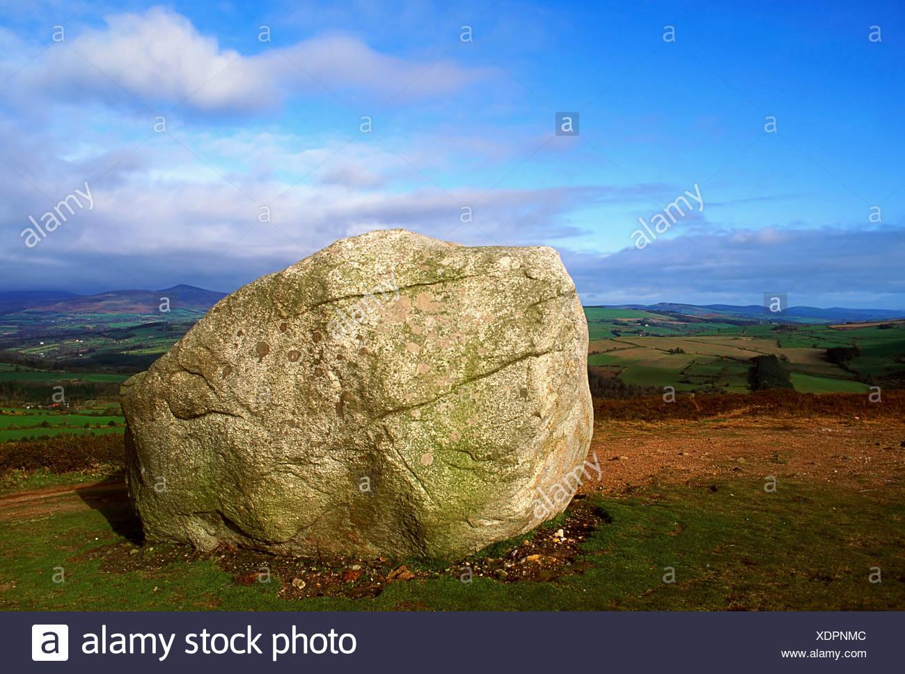 Motty Stone, Avoca, Co Wicklow, Ireland Stock Photo