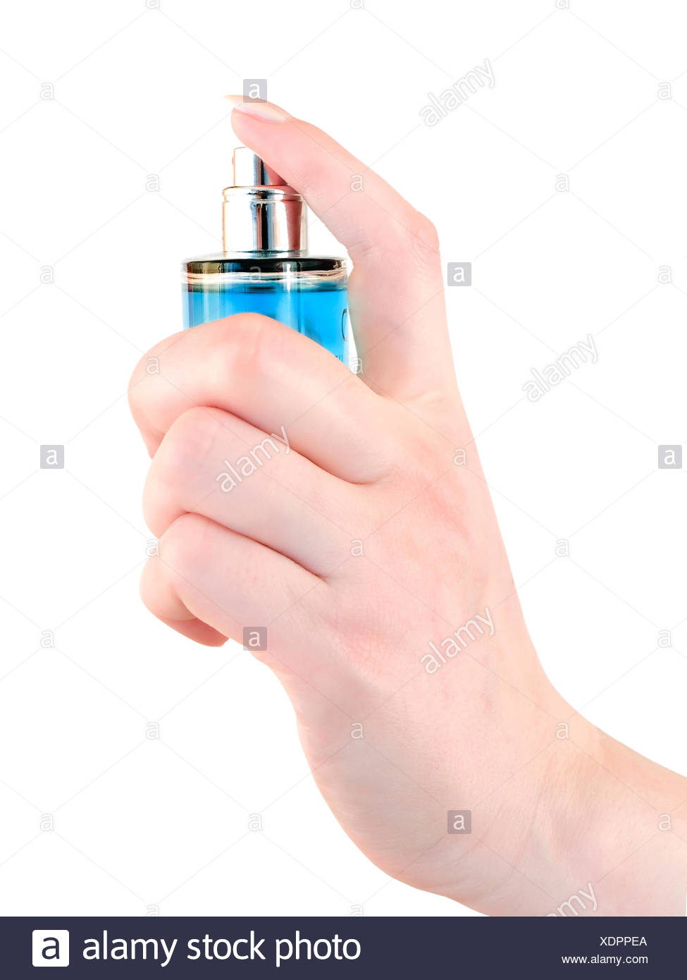 hand perfume spray - Stock Image