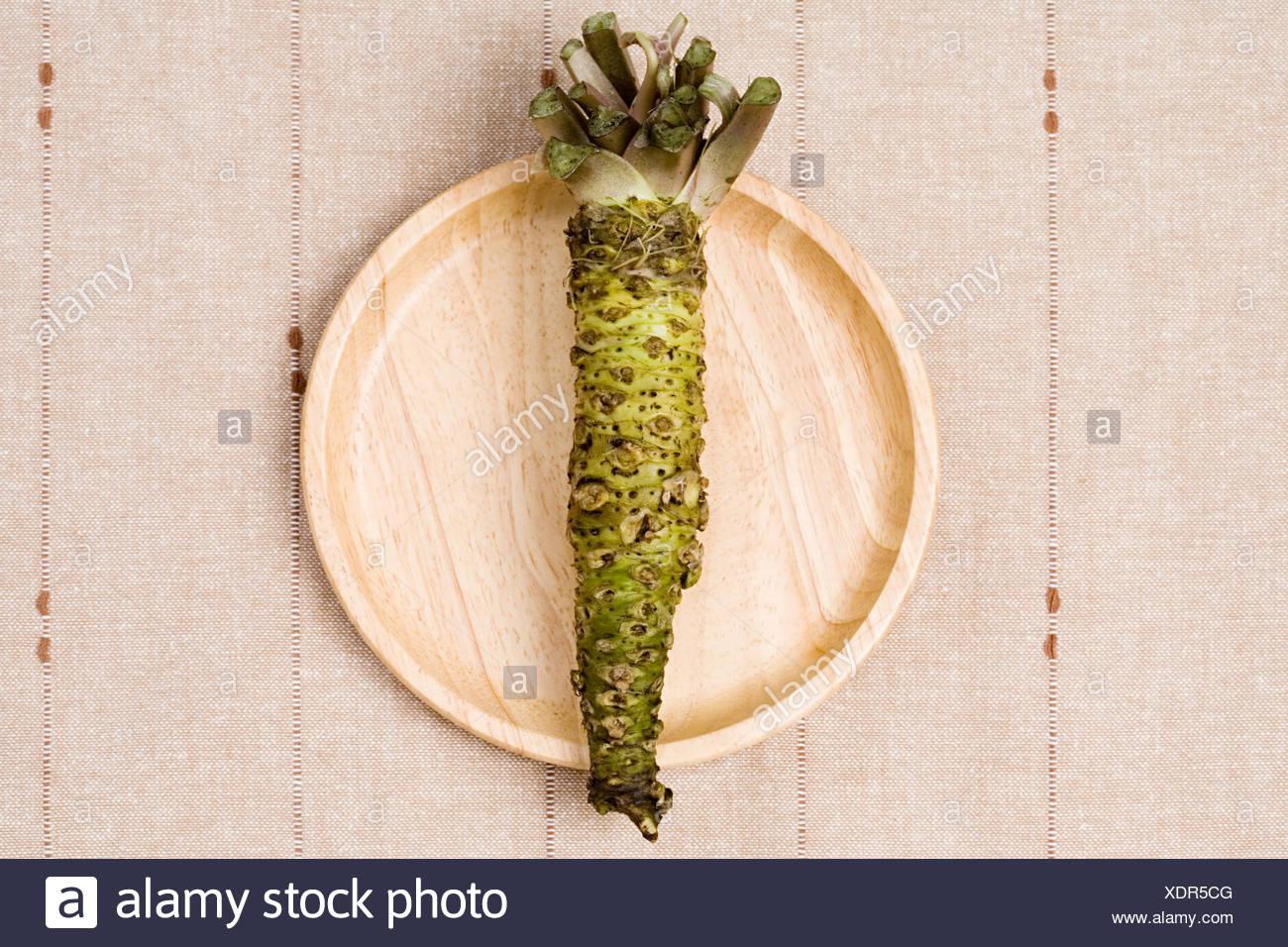 Wasabi plant - Stock Image