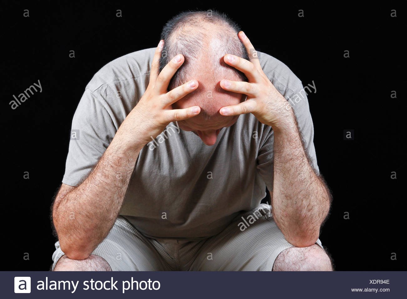 Worried man - Stock Image