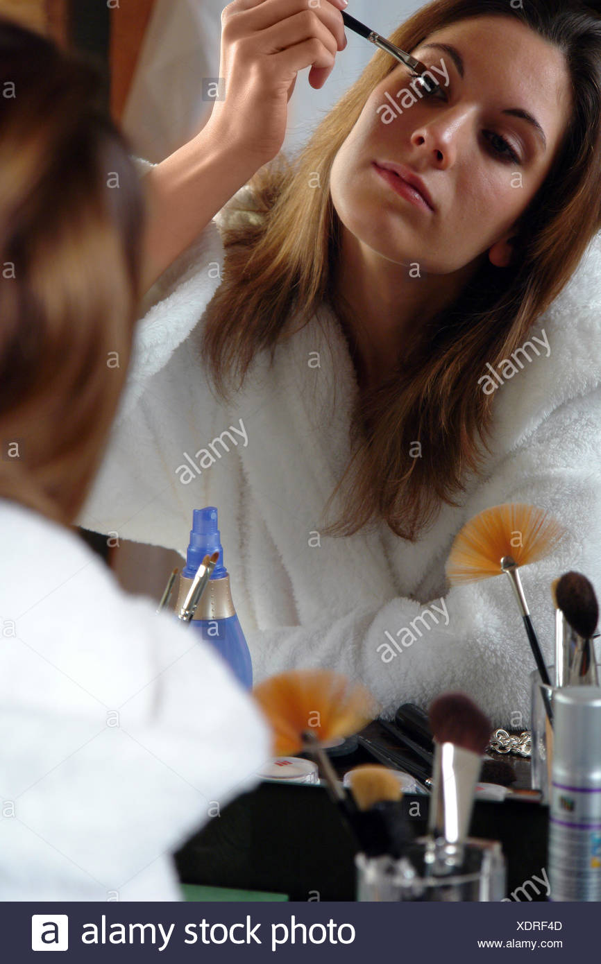 Woman beautiful beauteously nice studio photography emotions brown brownish