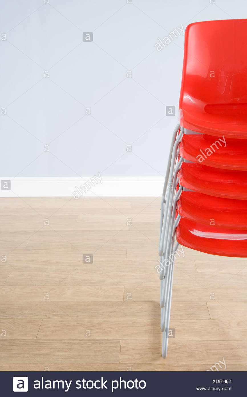 Stack Of Chairs - Stock Image