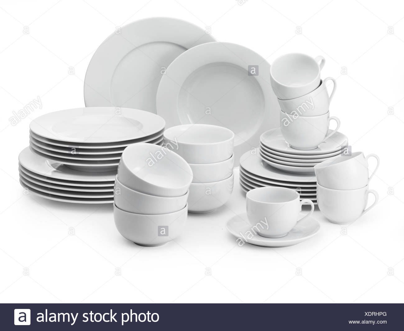 White tableware cups plates bowls  sc 1 st  Alamy & White tableware cups plates bowls Stock Photo: 283875272 - Alamy