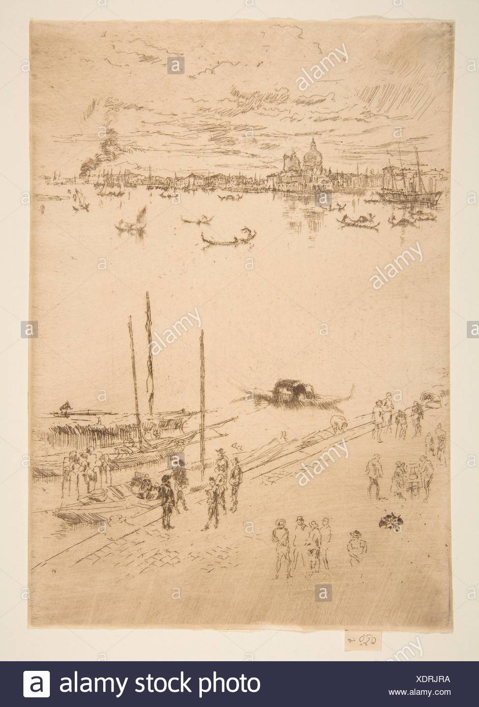 Upright Venice. Series/Portfolio: Second Venice Set (A Set of Twenty-Six Etchings by James A. McN. Whistler, 1886); Artist: James McNeill Whistler - Stock Image
