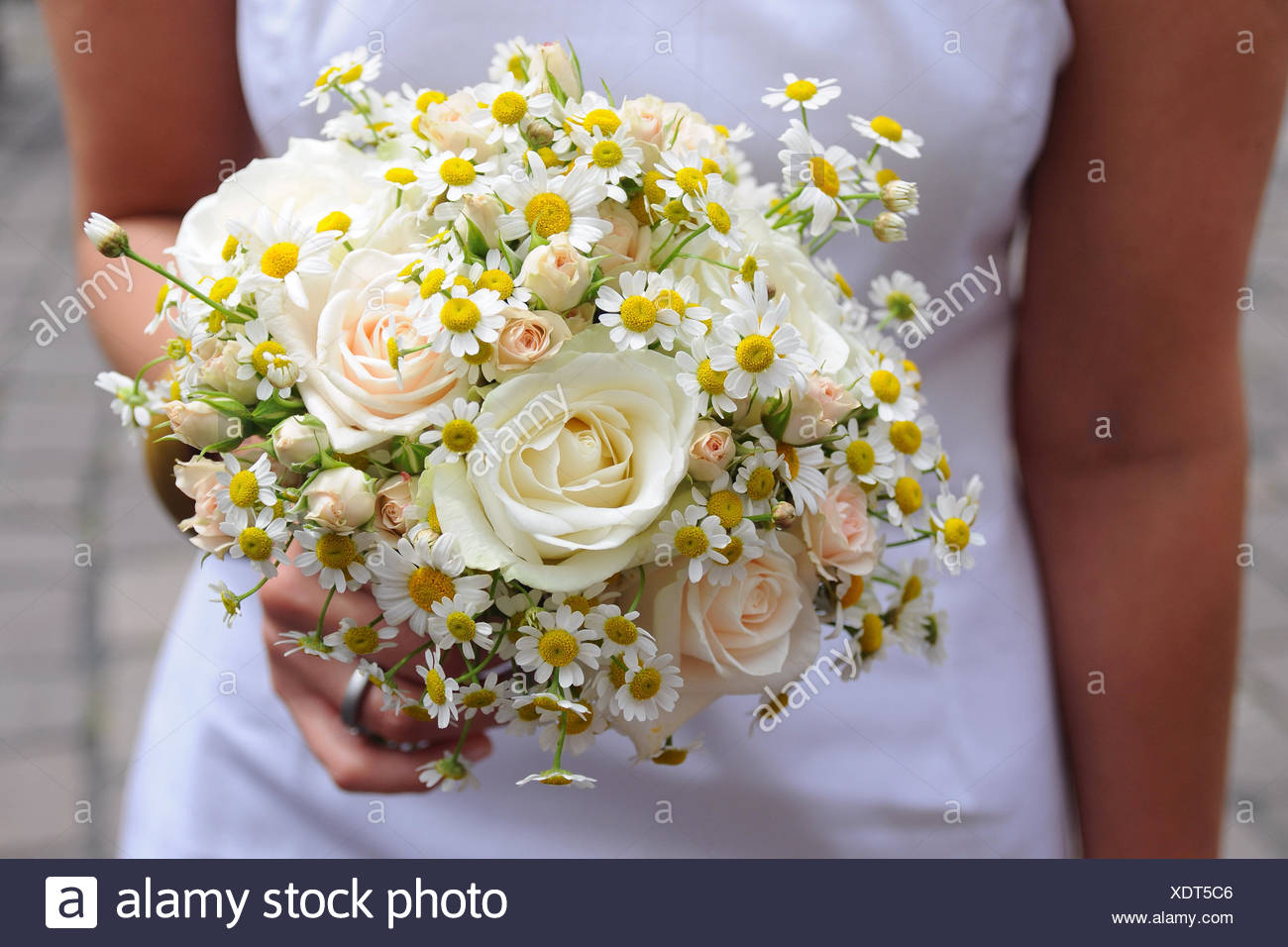 Yellow wedding flowers Stock Photo