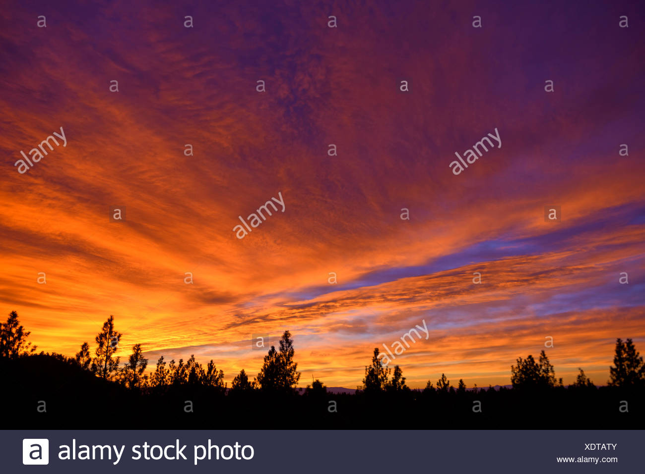 USA,Oregon,Deschutes County,sky - Stock Image