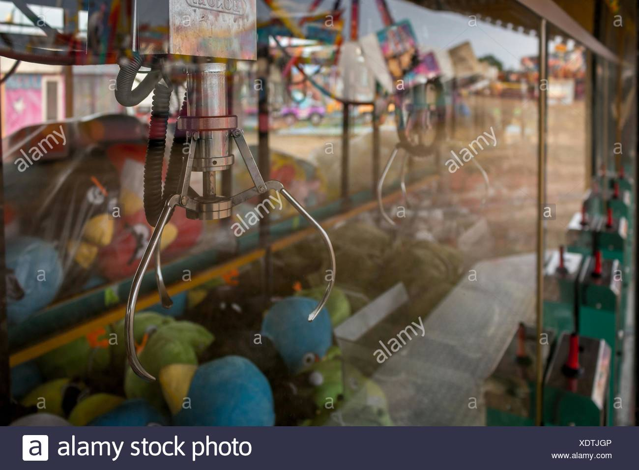 Close-Up Of Claw Machine - Stock Image