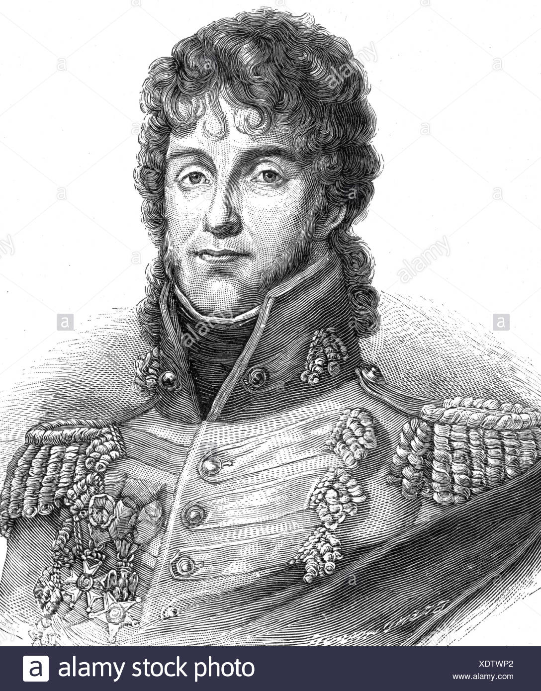 Murat, Joachim, 25.3.1771 - 13.10.1815, French general, portrait, steel engraving by C. E.Weber, 19th century, , Additional-Rights-Clearances-NA - Stock Image