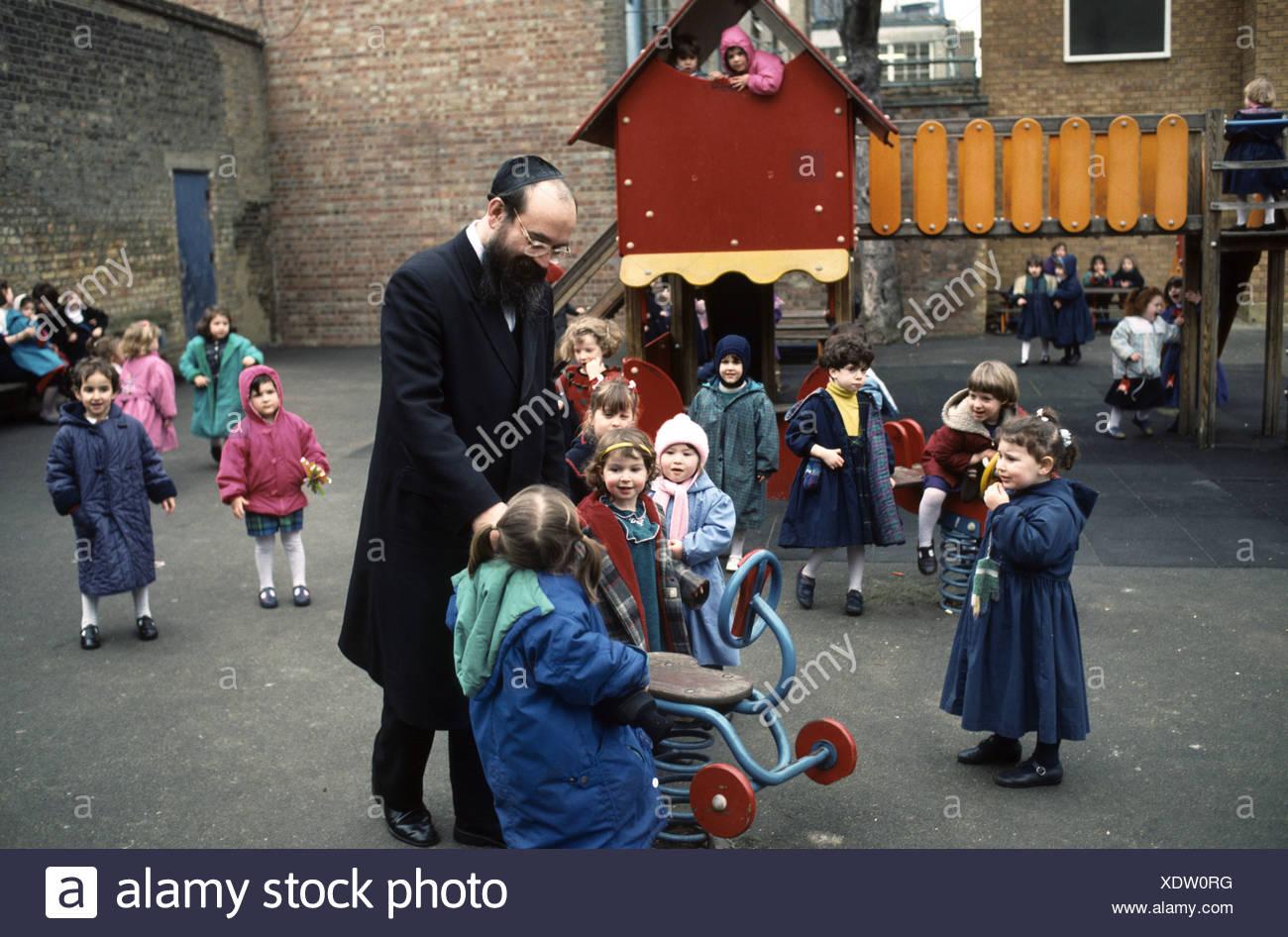 Hasidic school in London - Stock Image