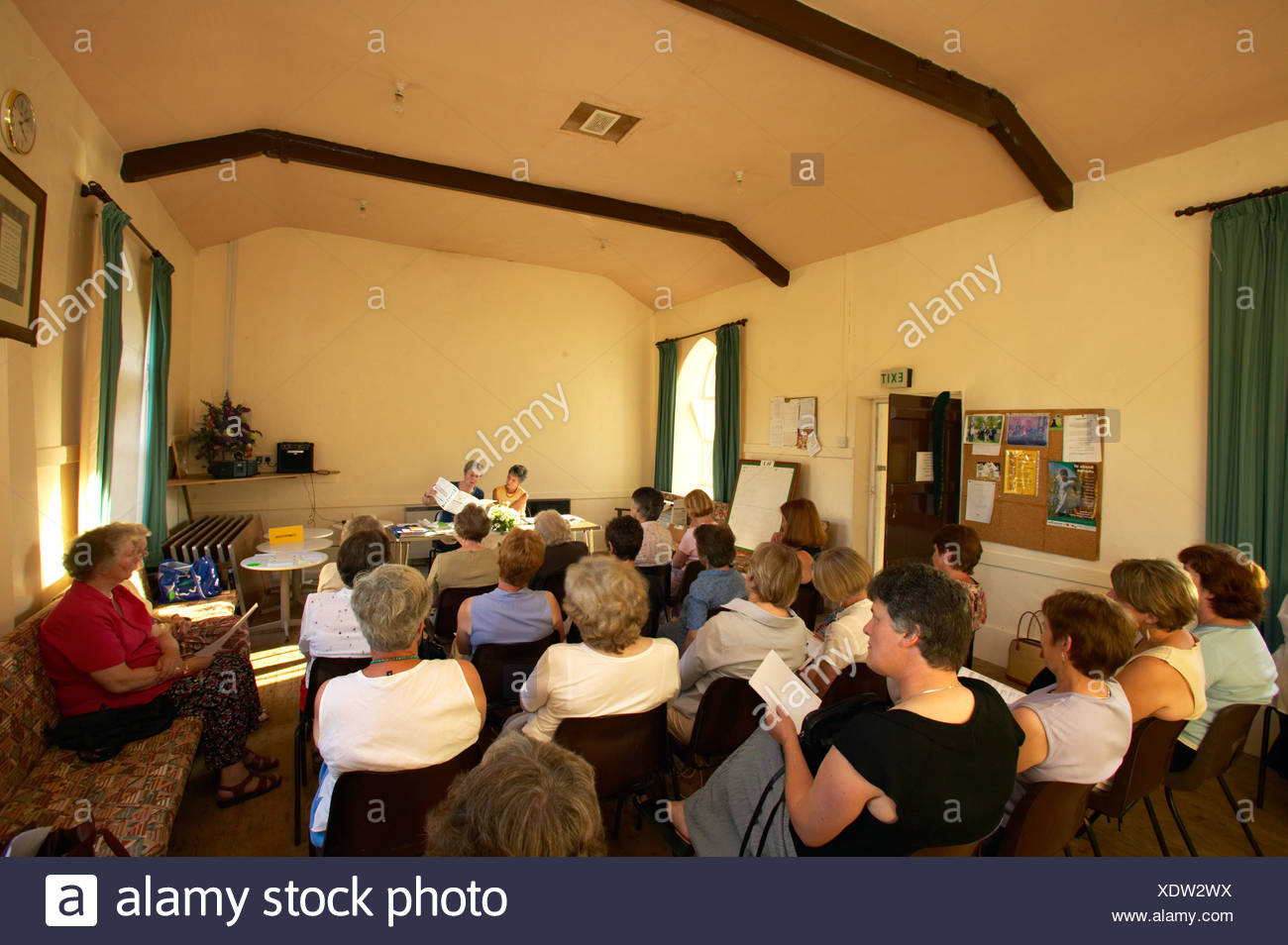 WI members meeting in community centre - Stock Image