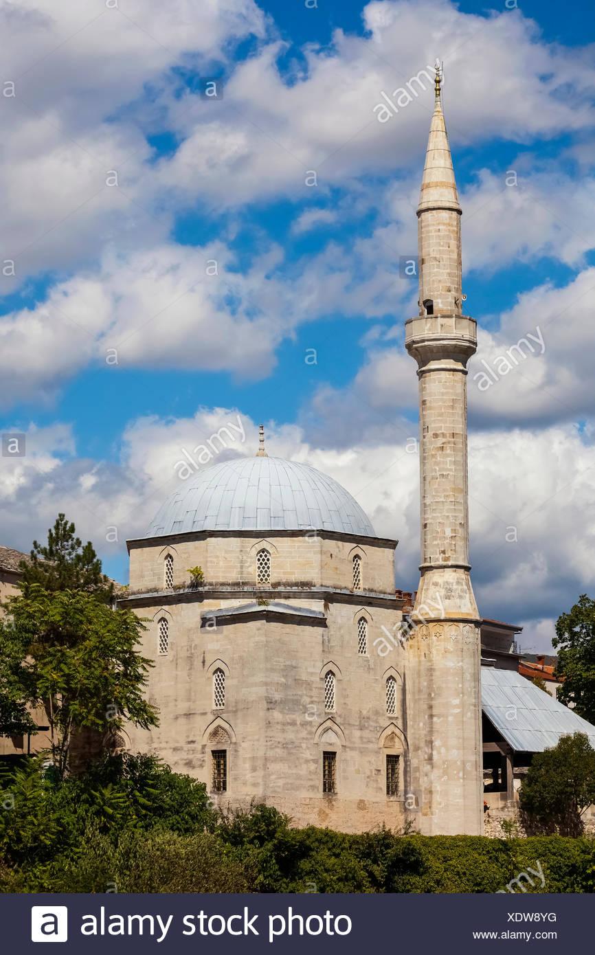 Mosque; Mostar, Bosnia-Herzogovina - Stock Image