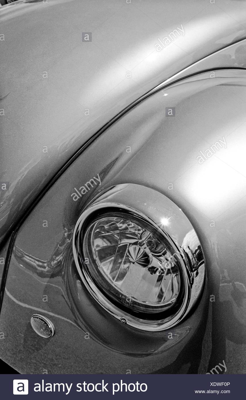 VW Beetle Headlight - Stock Image