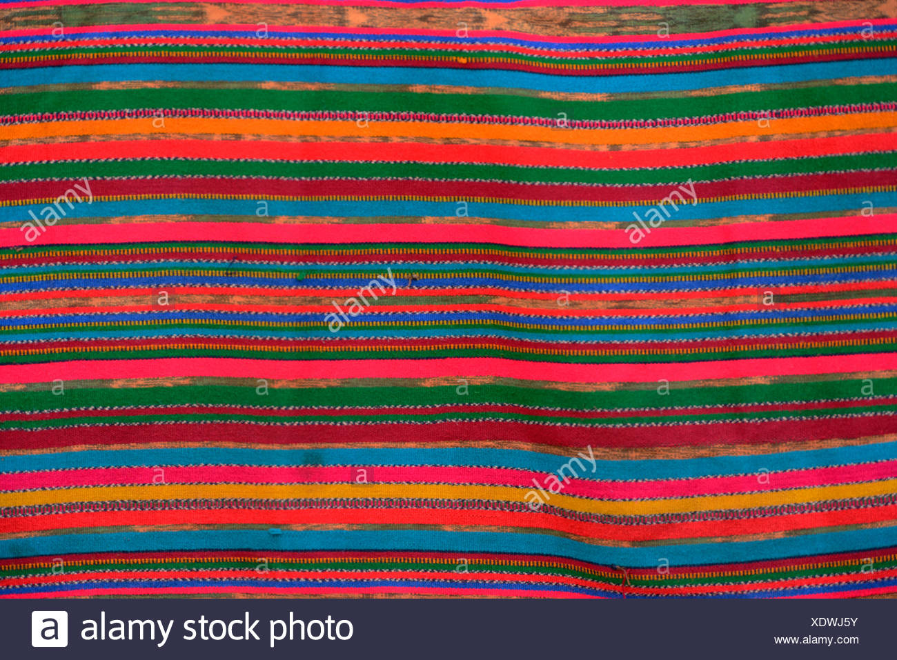 Central America, Guatemala, Santiago, indian, maya, blanket, colours, Solola, - Stock Image