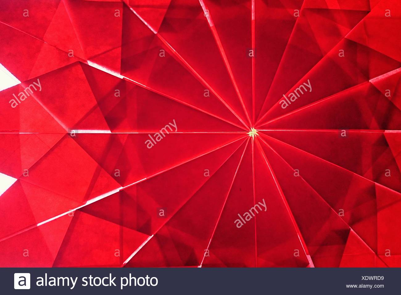 Close-Up Of Red Paper Art - Stock Image