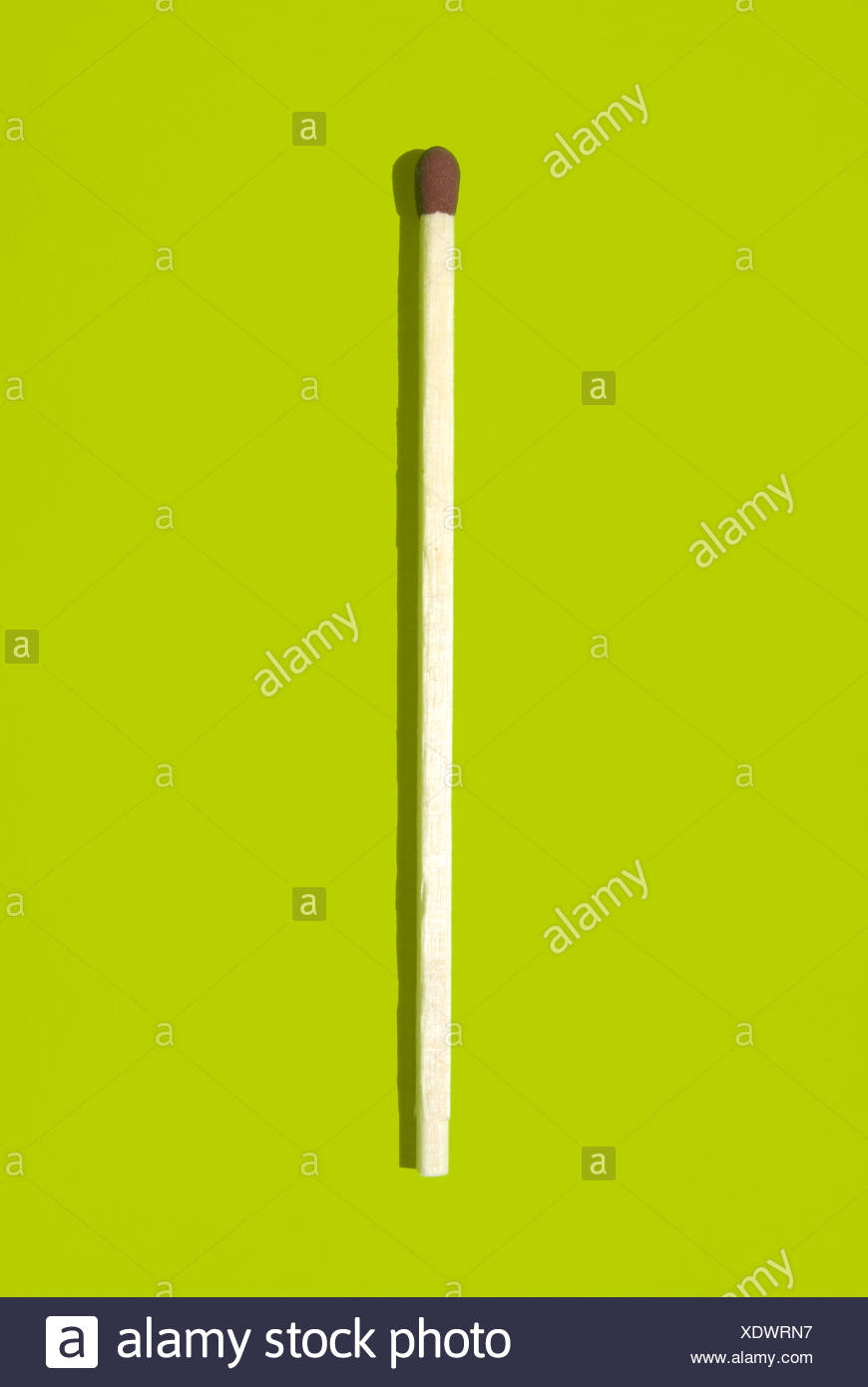 Matchstick, elevated view - Stock Image