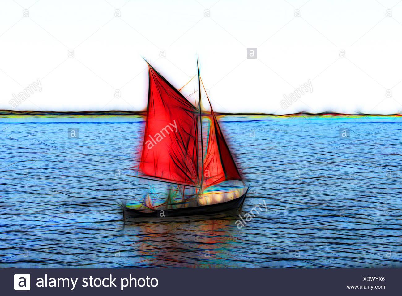 Kleines Segelboot - Stock Image