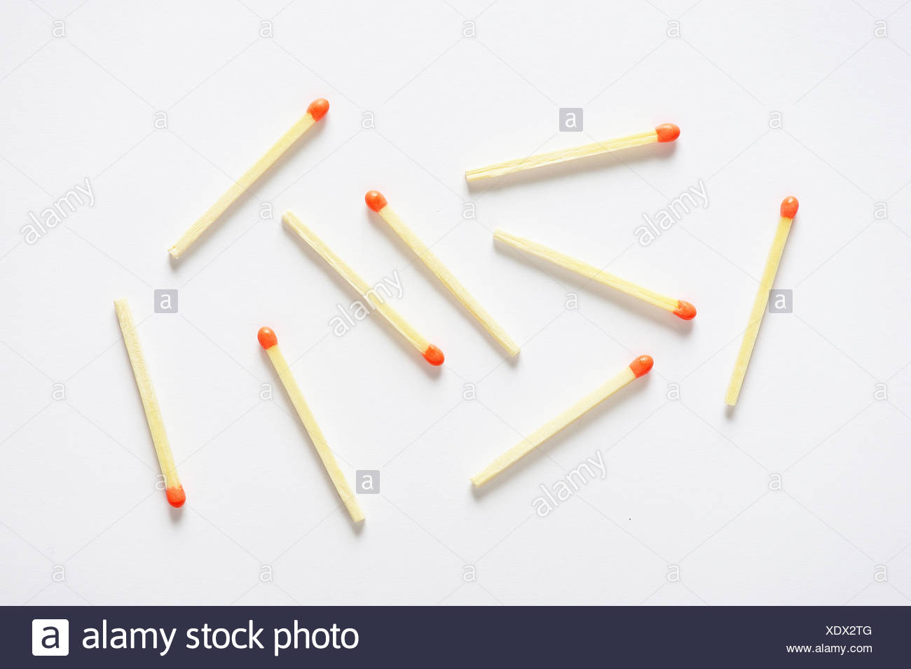 Scattered matches Stock Photo