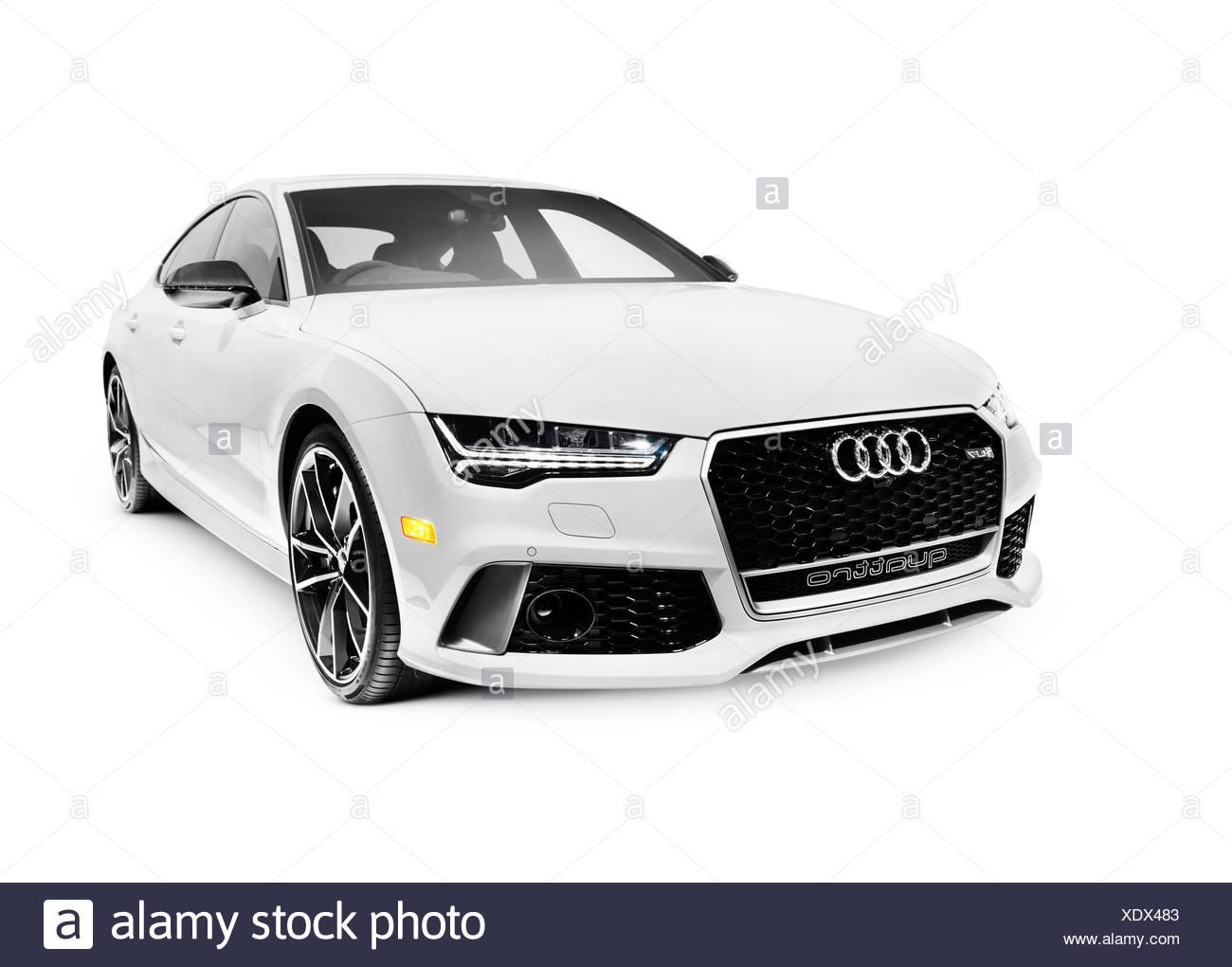 2016 Audi RS 7 Prestige Quattro Sedan luxury car - Stock Image