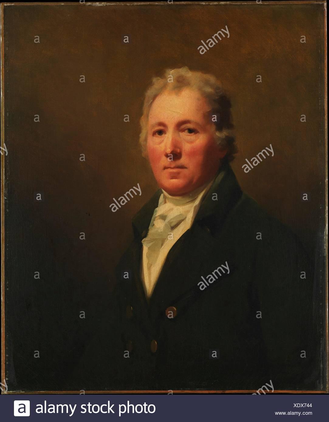 William Forsyth (1749-1814). Artist: Sir Henry Raeburn (British, Stockbridge, Scotland 1756-1823 Edinburgh, Scotland); Date: ca. 1800; Medium: Oil on - Stock Image