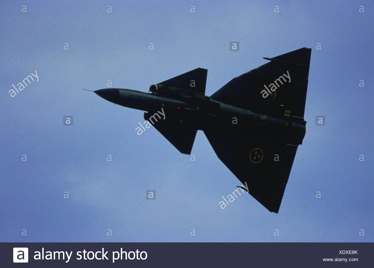 military, Sweden, aircraft airforce jet Saab J-37 'Viggen', Additional-Rights-Clearences-NA - Stock Image