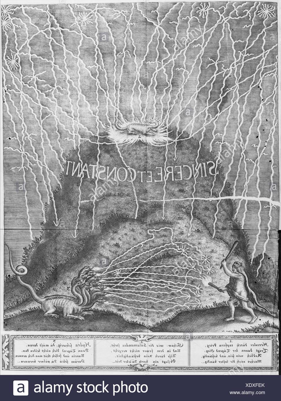 Die Triumphirende Liebe umgeben Mit den Sieghafften Tugenden In einem Ballet Auff dem Hochfürstlichen Beylager. Christian Ludwig Hertzog zu - Stock Image