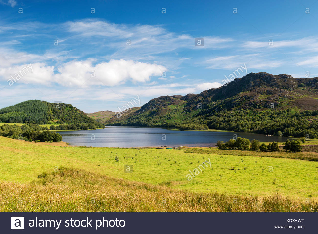 Loch Ruthven near Torness, North West Highlands, Scotland, United Kingdom, Europe - Stock Image