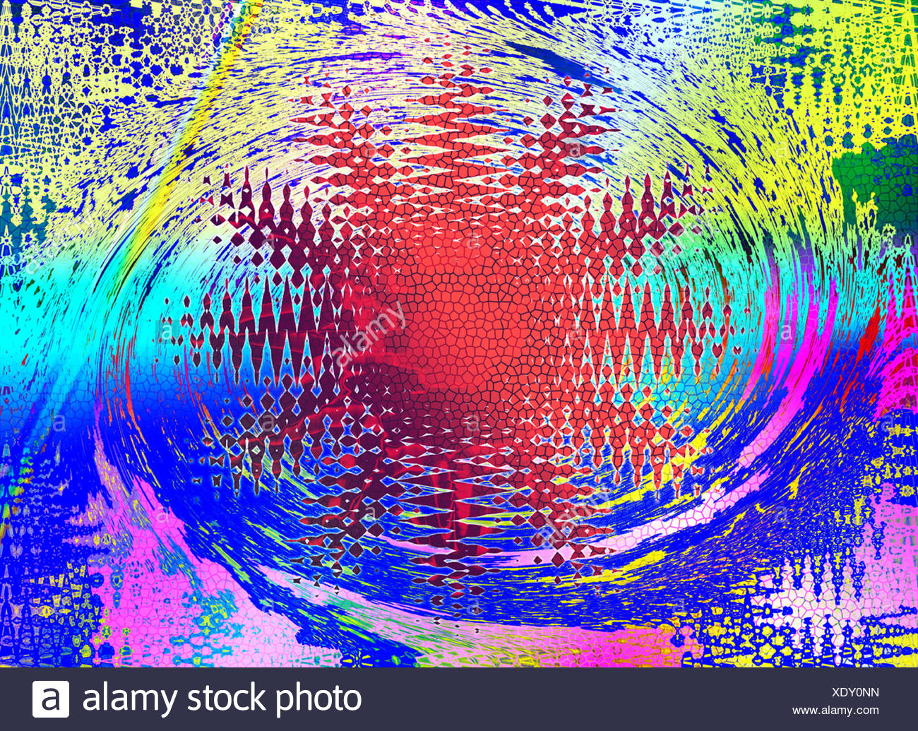 Abstract extraordinary flower - Stock Image
