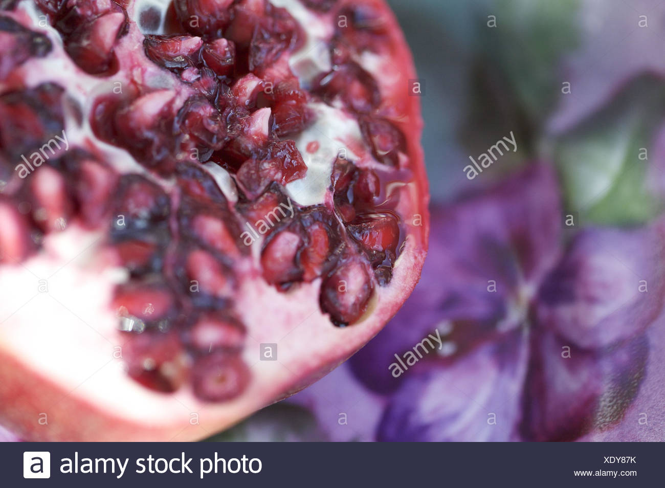 Pomegranate, cores, close up, Stock Photo