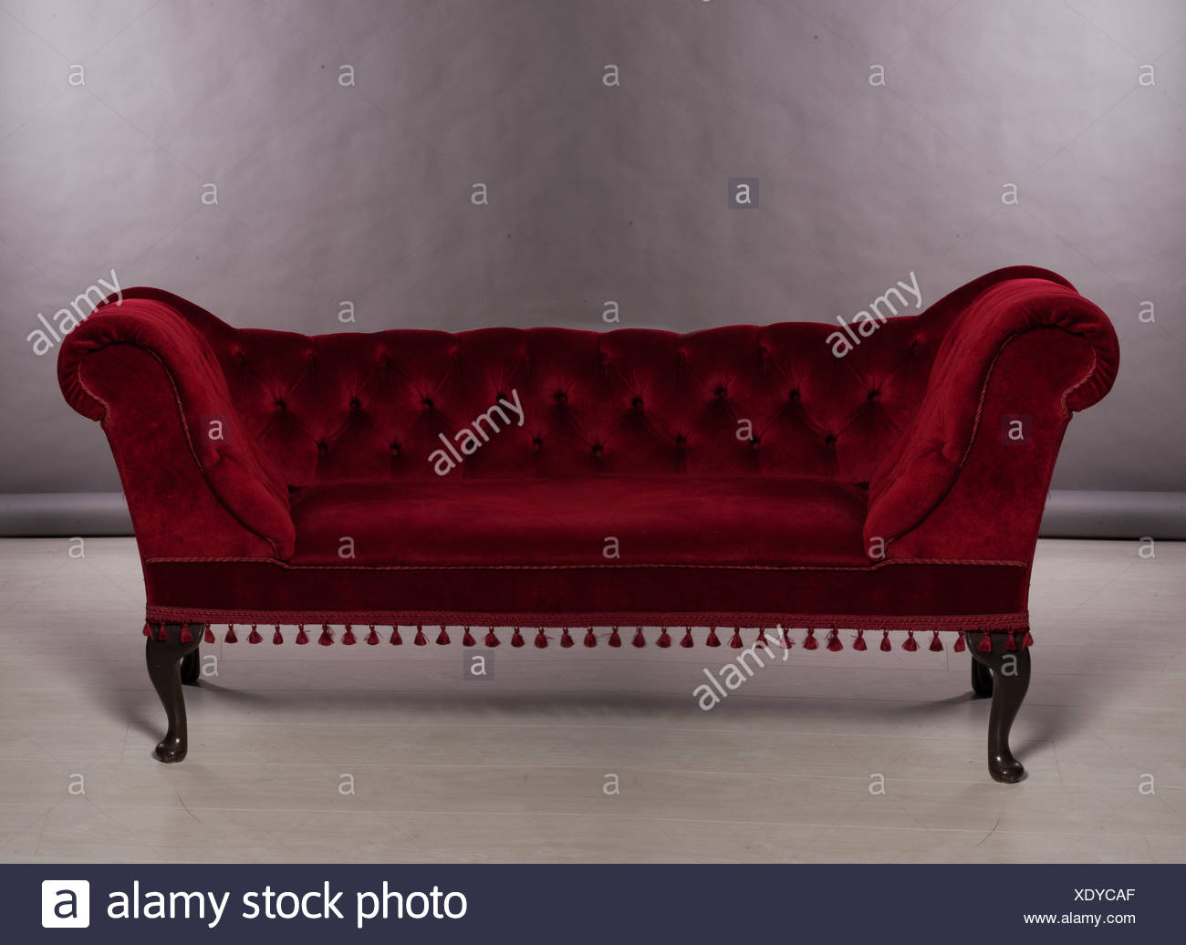 Upholstered Chesterfield Sofa   Stock Image