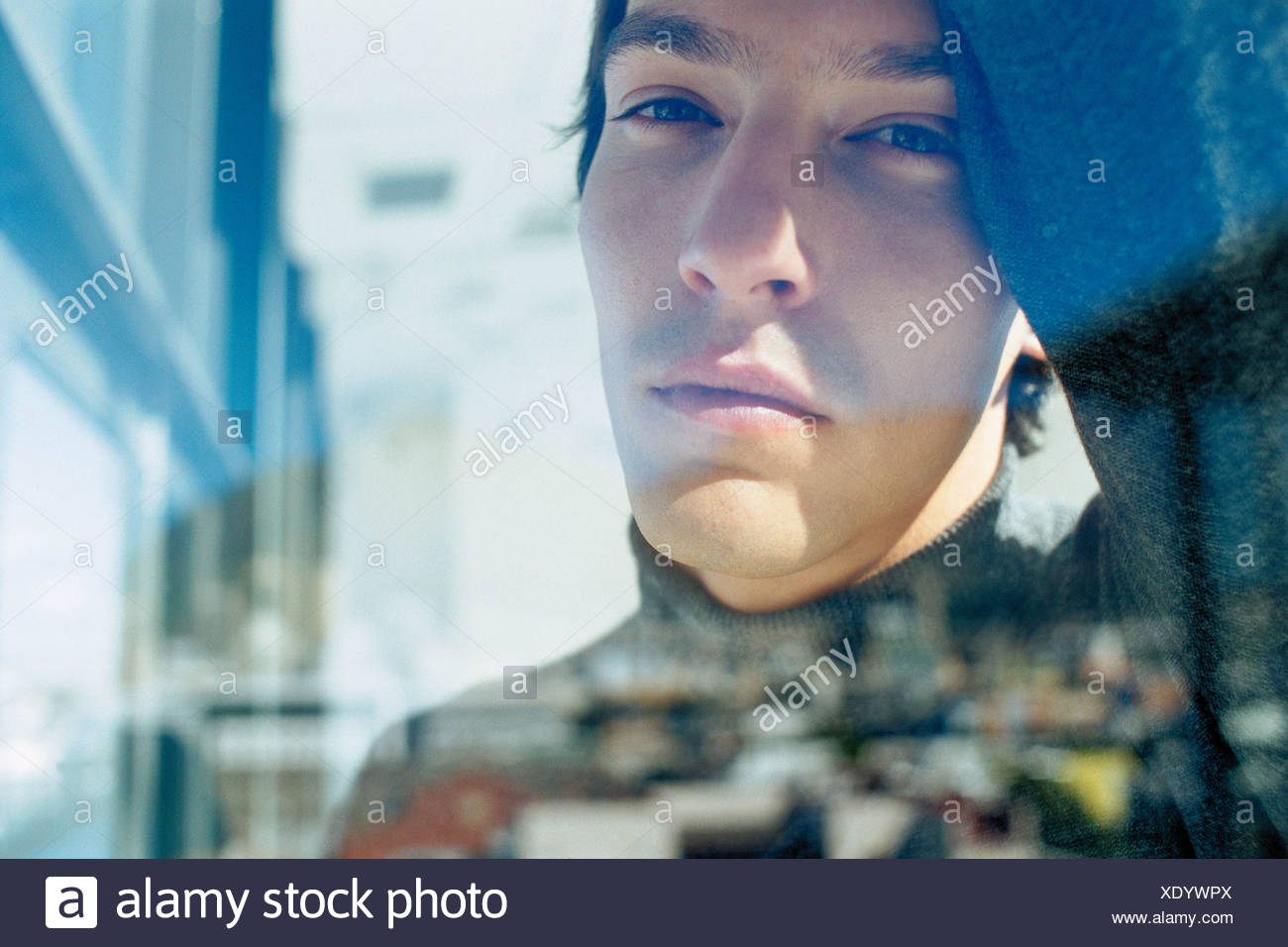 Troubled man - Stock Image