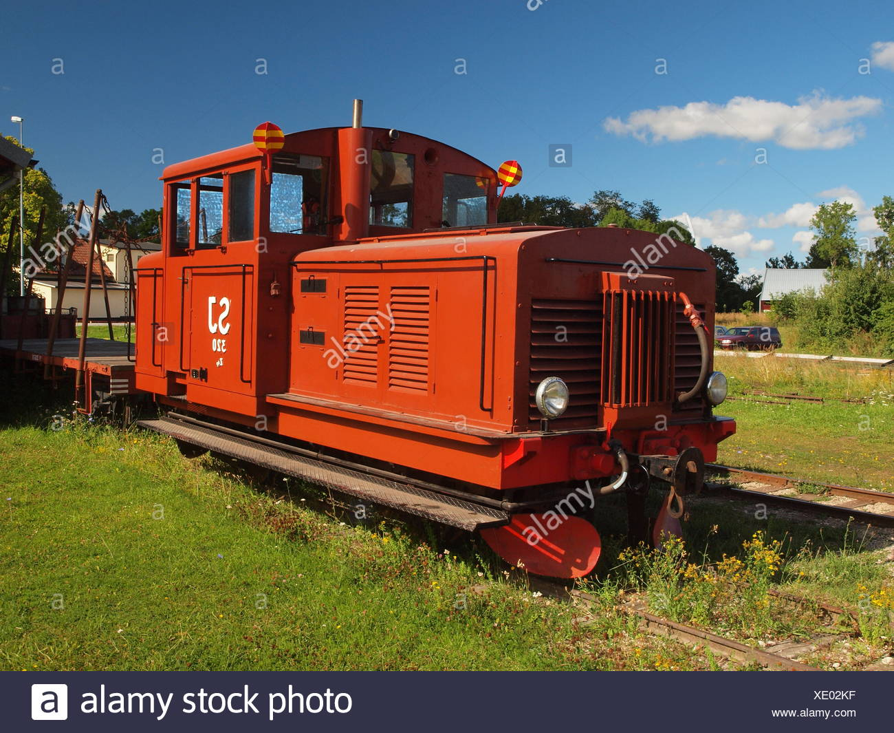 Locomotive - narrow gauge heritage railway - Stock Image
