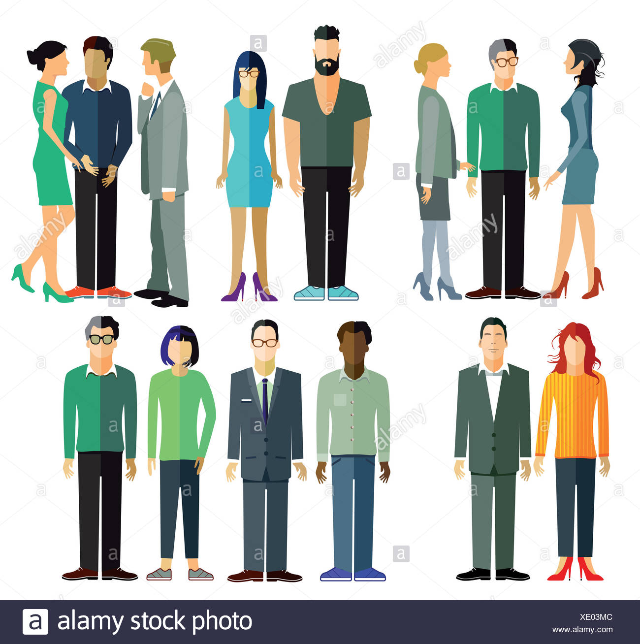 People and Groups - Stock Image