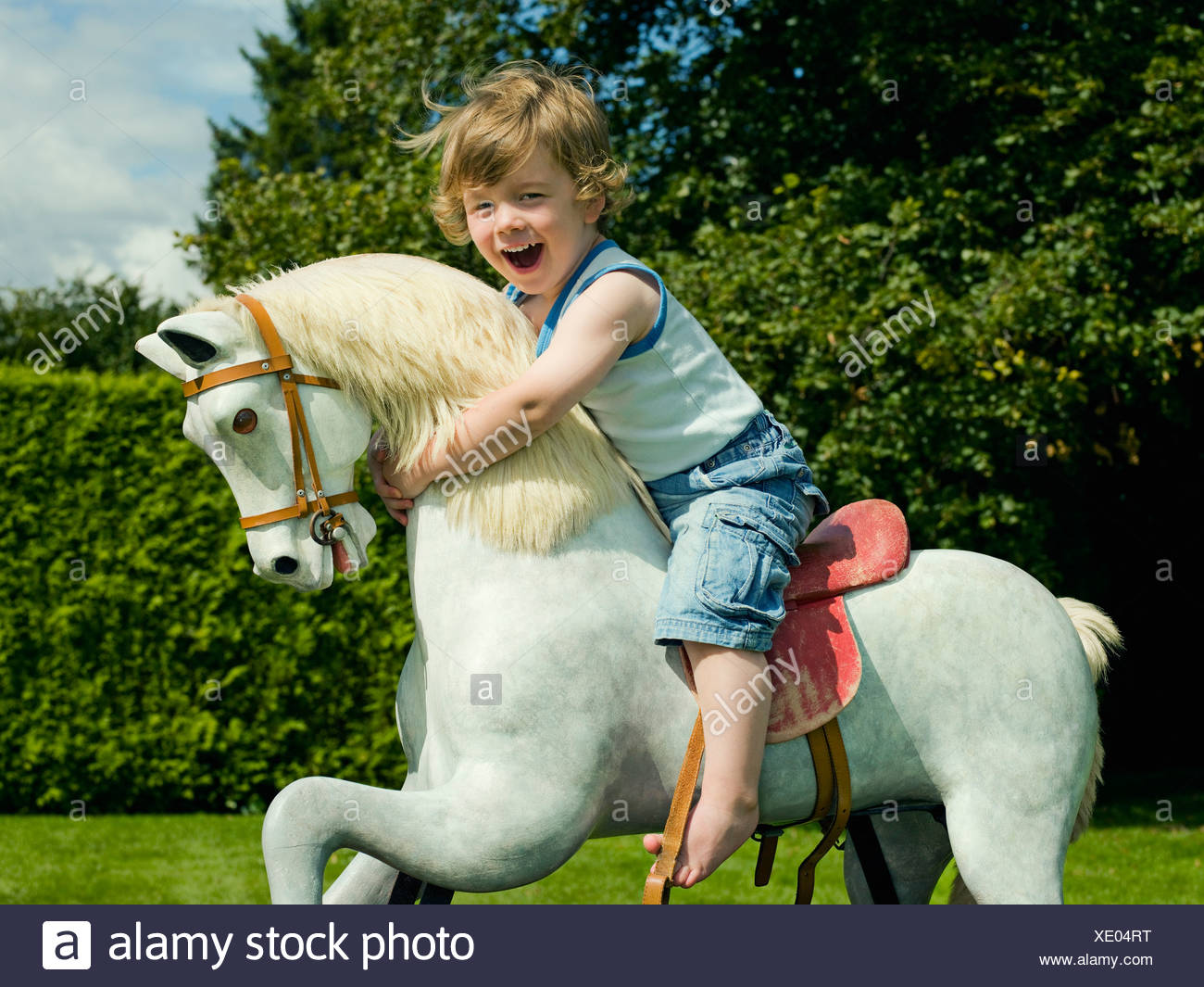 Young Boy Riding Horse High Resolution Stock Photography And Images Alamy
