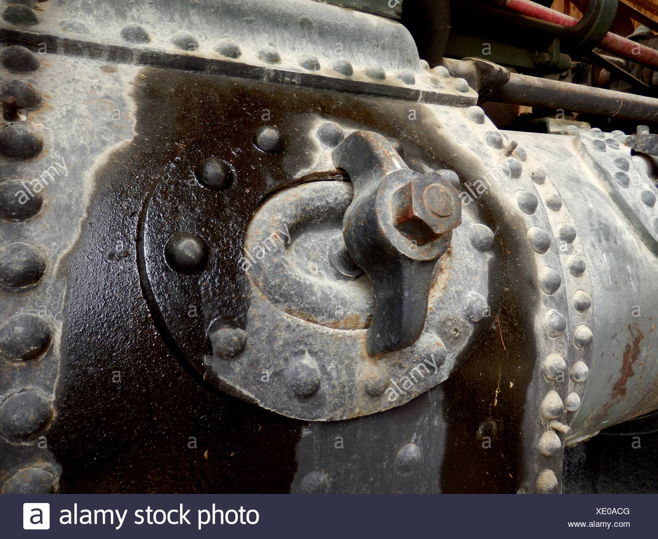 Oil leak - Stock Image