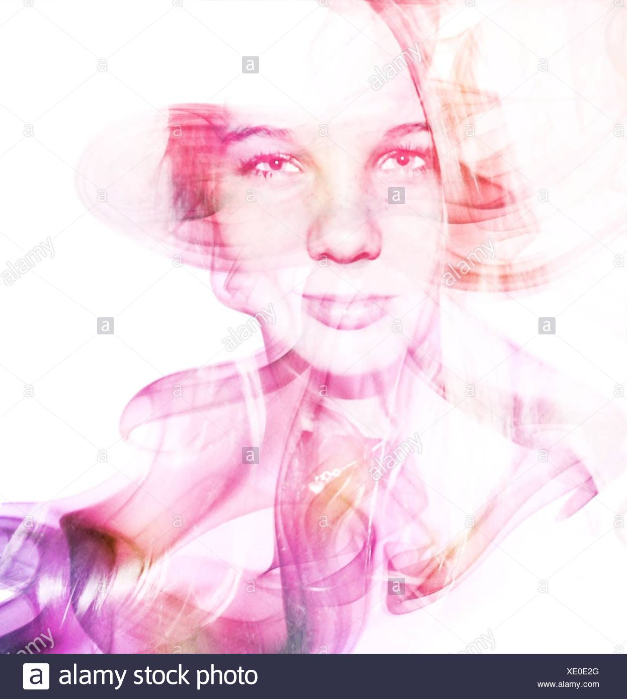 Digital Composite Of Woman Stock Photo